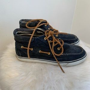 Sperry top sided high tops denim look